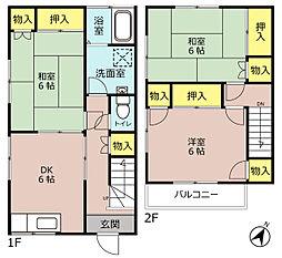 [テラスハウス] 埼玉県三郷市新和3丁目 の賃貸【/】の間取り