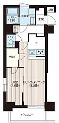 レオーネ三ノ輪II 5階1LDKの間取り
