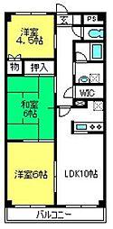 ロマーナ弐番館[6階]の間取り