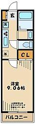 小田急多摩線 小田急多摩センター駅 徒歩10分の賃貸マンション 1階1Kの間取り