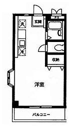 神奈川県川崎市多摩区堰3丁目の賃貸アパートの間取り