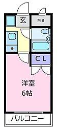 桃山グランドハイツ[4階]の間取り