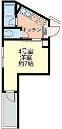 神奈川県横浜市西区伊勢町2丁目の賃貸アパートの間取り