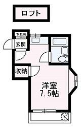 埼玉県朝霞市朝志ケ丘3丁目の賃貸アパートの間取り