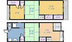 [テラスハウス] 大阪府堺市北区奥本町1丁 の賃貸【/】の間取り