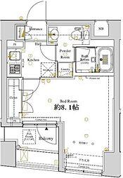 ディアレイシャス東京ベイ潮見[3階]の間取り