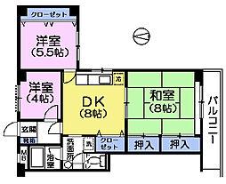みなもとマンション[3階]の間取り