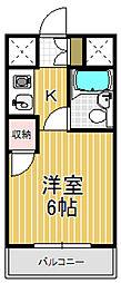 コンフォートハイツ岩崎[6階]の間取り