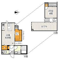 福岡県福岡市東区和白東1丁目の賃貸アパートの間取り
