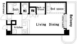 フィネス21[4階]の間取り