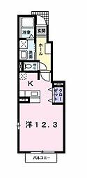 愛知県岡崎市中島町字本町の賃貸アパートの間取り