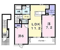 ユレナ24[2階]の間取り