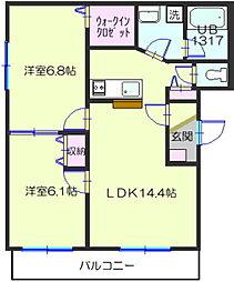 ディアマンII[1階]の間取り