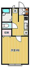 フィオーレハウス[2-G号室]の間取り