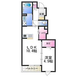 Osaka Metro谷町線 出戸駅 徒歩9分の賃貸マンション 1階1LDKの間取り