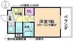 大阪府豊中市庄内東町3丁目の賃貸マンションの間取り
