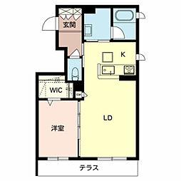 南海高野線 北野田駅 徒歩5分の賃貸マンション 1階1LDKの間取り