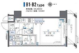 JR山手線 秋葉原駅 徒歩3分の賃貸マンション 7階1Kの間取り