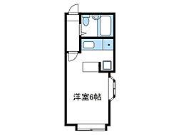 神奈川県座間市相武台1丁目の賃貸アパートの間取り
