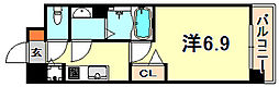 JR東海道・山陽本線 灘駅 徒歩5分の賃貸マンション 2階1Kの間取り