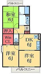 千葉県市原市松ケ島2丁目の賃貸アパートの間取り