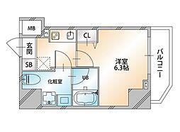 Valore Nishisugamo(ヴァローレ西巣鴨) 15階1Kの間取り