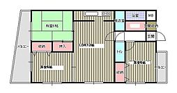 福岡県福岡市早良区飯倉6丁目の賃貸マンションの間取り