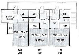 コーポ殿山[2階]の間取り