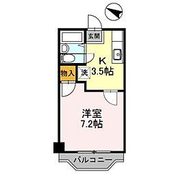 大阪府大阪狭山市金剛2丁目の賃貸マンションの間取り