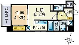 LEXUS GARDEN 香椎駅前 3階1LDKの間取り