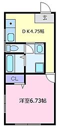 パークヒルズオーカー[2階]の間取り