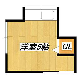 岡本荘[3号室]の間取り