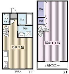 [テラスハウス] 神奈川県横浜市青葉区田奈町 の賃貸【/】の間取り