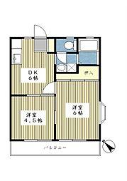 サンライフ野川台[1階]の間取り