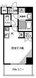 東京都渋谷区神泉町の賃貸マンションの間取り