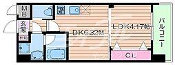 Osaka Metro御堂筋線 江坂駅 徒歩10分の賃貸マンション 10階1DKの間取り