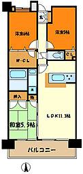 ザ・ミレナリータワーズ 19階3LDKの間取り