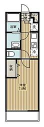 JR埼京線 北与野駅 徒歩13分の賃貸マンション 2階1Kの間取り