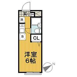 ガーデンハイツ新横浜[203号室]の間取り