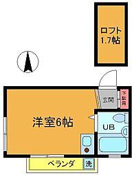 カーサTIKI国府台[202号室]の間取り