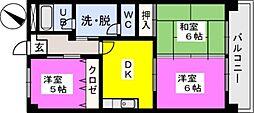 福岡県福岡市南区井尻4丁目の賃貸マンションの間取り