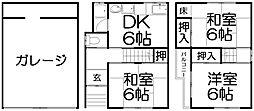 [一戸建] 大阪府枚方市長尾家具町4丁目 の賃貸【/】の間取り