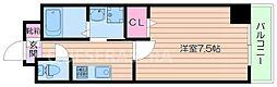 Osaka Metro谷町線 千林大宮駅 徒歩5分の賃貸マンション 5階1Kの間取り