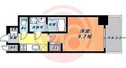 JR大阪環状線 鶴橋駅 徒歩4分の賃貸マンション 14階1Kの間取り