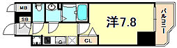 JR東海道・山陽本線 神戸駅 徒歩4分の賃貸マンション 2階1Kの間取り
