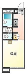 レオパレス中野川[1階]の間取り