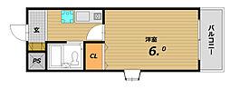 兵庫県神戸市須磨区東町4丁目の賃貸マンションの間取り