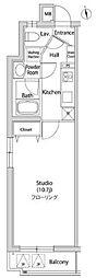 東急東横線 代官山駅 徒歩5分の賃貸マンション 3階1Kの間取り