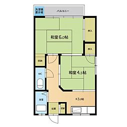 日吉アパート[201号室]の間取り