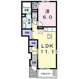 愛知県豊橋市柱七番町の賃貸アパートの間取り